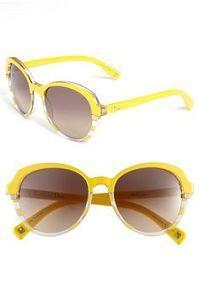 863152b46789 Dior Retro Sunglasses Yellow Striped One Size