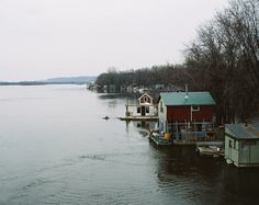another pic of the Latsch Island boathouses, Winona, MN