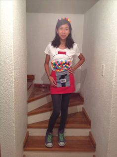 #Gumball machine costume...adorable!