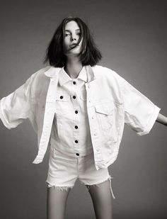 white denim. 'The Great Cate'   Catherine McNeil By Christian MacDonald For MDX   Spring 2013