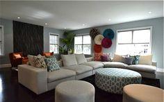 Farmily Room Designed By Color Theory, Boston Globe Magazine #juju