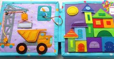 Diy Quiet Books, Baby Quiet Book, Felt Quiet Books, Fleece Crafts, Felt Crafts, Silent Book, Quiet Book Templates, Fidget Blankets, Toddler Books
