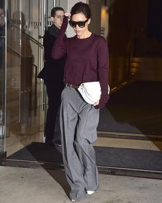 LOOK OF THE DAY: Victoria Beckham steps out in NYC in a loose fitting sweater and trouser combo #ootd #VictoriaBeckham  via MARIE CLAIRE AUSTRALIA MAGAZINE OFFICIAL INSTAGRAM - Celebrity  Fashion  Haute Couture  Advertising  Culture  Beauty  Editorial Photography  Magazine Covers  Supermodels  Runway Models