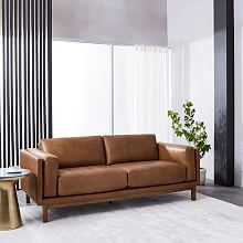 """Modern Chesterfield Leather Sofa (79"""")"""
