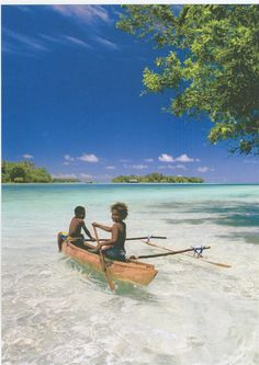 "Vanuatu Beach, Fiji Islands.  The series ""Survivor"" was filmed here in 2004.  Gorgeous water!  ASPEN CREEK TRAVEL - karen@aspencreektravel.com"