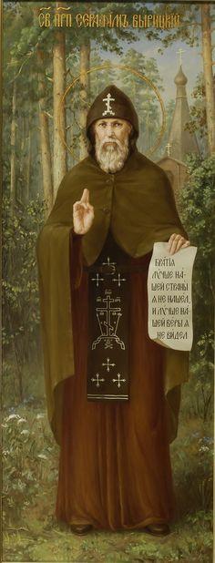 Икона. Святой преподобный Серафим Вырицкий. Храмовая, ростовая икона в академическом стиле