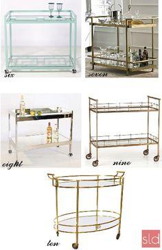 The Suite Life Designs Top 10 Bar Cart Picks