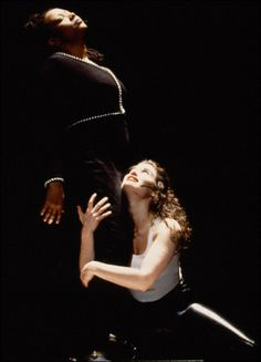 Fredi Walker and Idina Menzel as Joanne and Maureen in the original production. Rent Musical, Musical Theatre, Broadway Nyc, Broadway Shows, Rent Costumes, Jonathan Larson, Idina Menzel, Queen Elsa, Hot Couples