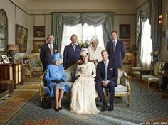 The official portrait for the christening of Prince George Alexander Louis of Cambridge, photographed in The Morning Room at Clarence House ...