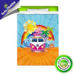 Peace Van VW Eco Friendly Surfer Sheets