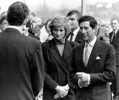 18 April 1989 Prince and Princess of Wales visiting victims of the Hillsborough Disaster at the Northern General Hospital