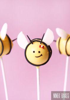 Easter Cake Pops ideas: Bumble Bee & Flowerpot Cake Pops - Tutorial - by niner bakes