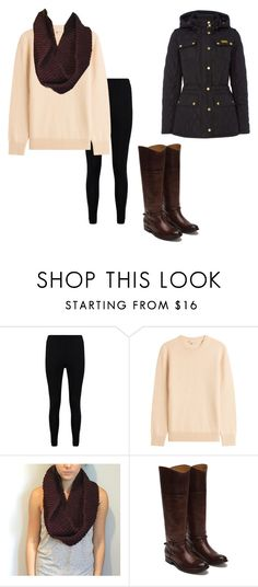 """Infinity Scarves"" by oliviaf14 on Polyvore featuring Boohoo, Michael Kors, Frye and Barbour"