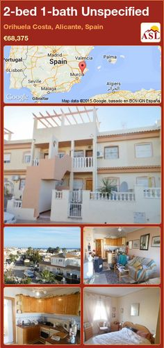 Unspecified for Sale in Orihuela Costa, Alicante, Spain with 2 bedrooms, 1 bathroom - A Spanish Life Murcia, Valencia, American Kitchen, Fitted Wardrobes, Alicante Spain, Dining Area, Terrace, Costa, Portugal