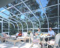 Curved Glass Roof Sunroom