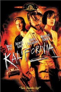 Kalifornia (1993) 117 min  -  Crime | Thriller A journalist duo go on a tour of serial killer murder sites with two companions, unaware that one of them is a serial killer himself.  Director: Dominic Sena Writers: Stephen Levy (story), Tim Metcalfe (story), 1 more credit » Stars: Brad Pitt, Kathy Larson, David Milford