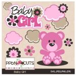 Baby Girl Cutting Templates are so sweet for your craft project to welcome a new little one.