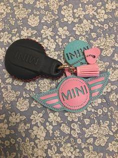 Personalized mini cooper keychain