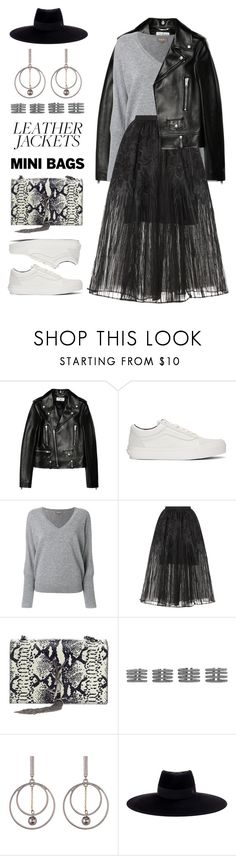 """""""Untitled #560"""" by froyalbiatsii ❤ liked on Polyvore featuring Yves Saint Laurent, Vans, N.Peal, Elie Saab, Maison Margiela, Spring Street and Maison Michel"""