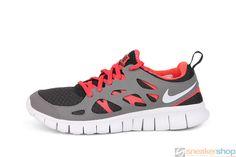 f97c7a04bc01 Nike Free Run 2 (GS) (Black White-Dark Grey-Lite Crimson)