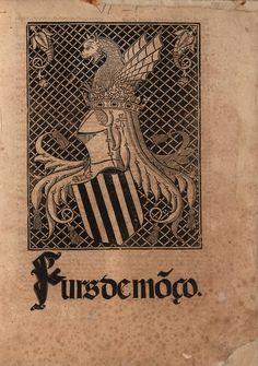 Port.ada con escudo xilográfico del reino de Valencia, en: Furs de Môço. Valentia : Juan Joffre, 1518