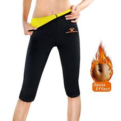 6ccd96d1916e3c AGROSTE Women's Neoprene Sauna Slimming Pants-Fat Burning Hot Thermo Sweat  Sauna Capris Leggings Shapers for Weight Loss (Black, L) - Best Weight Loss  Tips ...