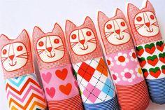 Child's scandinavian softie toy mini cat by Jane by Janefoster, $20.00