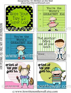 Lunchbox Notes For Kids - 8 Pages Worth