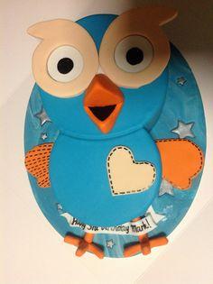 Hoot (Giggle and Hoot) themed birthday cake