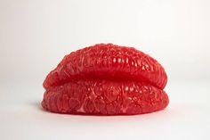 Using real fruit, Pierre Kleinhouse creates these plump lips.