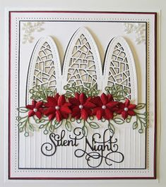 PartiCraft (Participate In Craft): Christmas Floral Stem Christmas Cards 2018, Christmas Card Crafts, Christmas Quotes, Xmas Cards, Christmas Greetings, Handmade Christmas, Holiday Cards, Diy Cards, Window Cards
