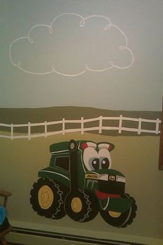 baby boy john deere theme nursery. Farm and tractor theme!