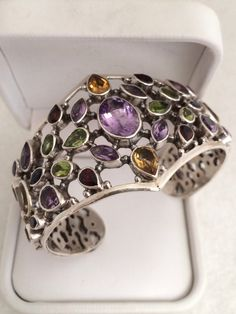 A personal favorite from my Etsy shop https://www.etsy.com/listing/226868344/stunning-couture-cuff-bracelet-semi
