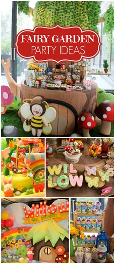 You won't believe this amazing fairy garden party! See more party ideas at CatchMyParty.com!