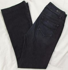 PPD Paige Highland Jeans Slight Flare Mid Rise Dark Wash Stretch sz 27 X 31 #PPDPaige #Flare