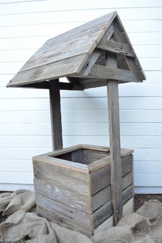 Wishing well. Wedding wishing well. Rustic by WhoTheDickens