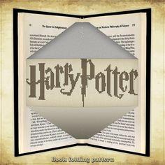 Book folding pattern Harry Potter Logo for 224 folds - ID0040065