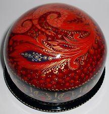 "Kholui Hand Painted Russian Lacquer Box ""Firebird"""