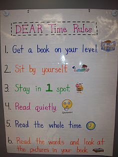 Mrs. Terhune's First Grade Site!: Anchor Charts  100 Bk Challenge rules