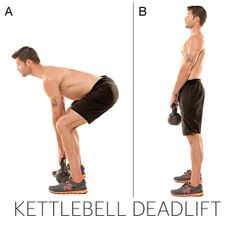 Kettlebell Deadlift - Change the Shape of Your Body with this workout from Master Trainer Josh Stolz's 4-week program that is scientifically designed to remake every muscle. #QBlog #Fitness #Exercise