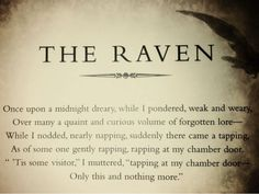 Edgar Allen Poe #Poetry