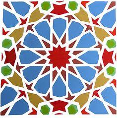 Small Classic Moroccan Stencil Stencil Patterns, Stencil Designs, Pattern Art, Pattern Paper, Geometric Stencil, Geometric Designs, Geometric Patterns, Moroccon Tiles, Motifs Islamiques