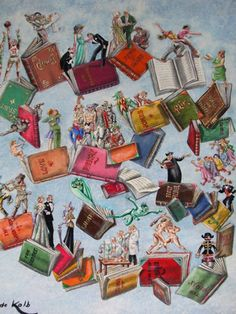 Books of Life Original Painting by Eric De Kolb - Acrylic on Masonite Book Writer, Book Reader, I Love Books, Books To Read, Book People, World Of Books, I Love Reading, Lectures, Book Nooks