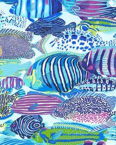 Natural World - Exotic Fish - Water Blue