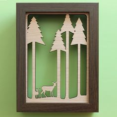 peppersprouts : Wood Wall Art: Deer in the Forest : modern home decor & accessories