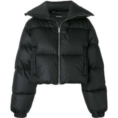 Misbhv photo patch puffer jacket (339.910 CLP) ❤ liked on Polyvore featuring outerwear, jackets, coats, black, casacos, puffy jacket, feather jacket, patch jacket and puffer jacket