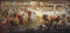 Charge of the Russian cavalry against Polish Winged Hussars