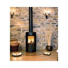 Wood burning tips stove ideas Wood Burner Fireplace, Fireplace Stone, Wood Burning Tips, Standing Fireplace, Deco Luminaire, O Gas, Kitchen Stove, Into The Woods, Fireplace Design
