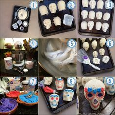 Tutorial how to make sugar skulls for Day of the Dead