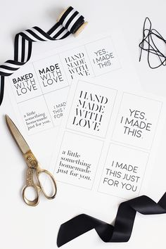 DIY - Free printable gift tags by minted.com